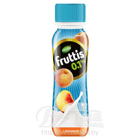 FRUTTIS Light 0,1% - peach 285g yoghurt drink